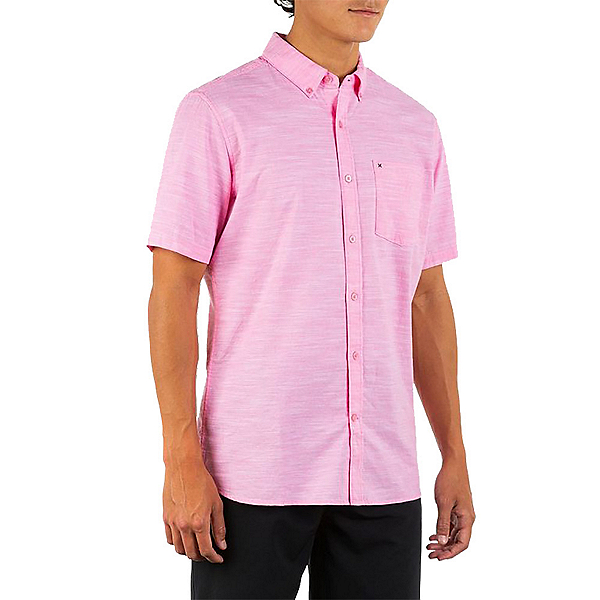 Hurley One and Only 2.0 Mens Shirt, Digital Pink, 600