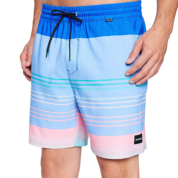 Hurley Phantom Breakwater Volley Mens Board Shorts, Signal Blue, 600