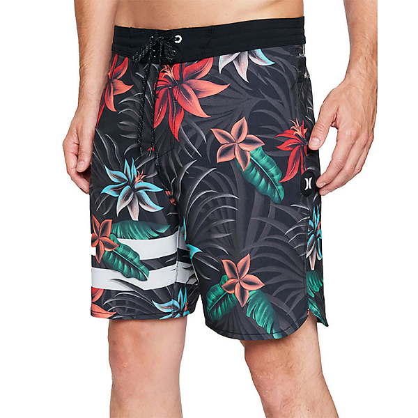 Hurley Phantom+ Block Party 2.0 Thalia Mens Board Shorts, Black, 600