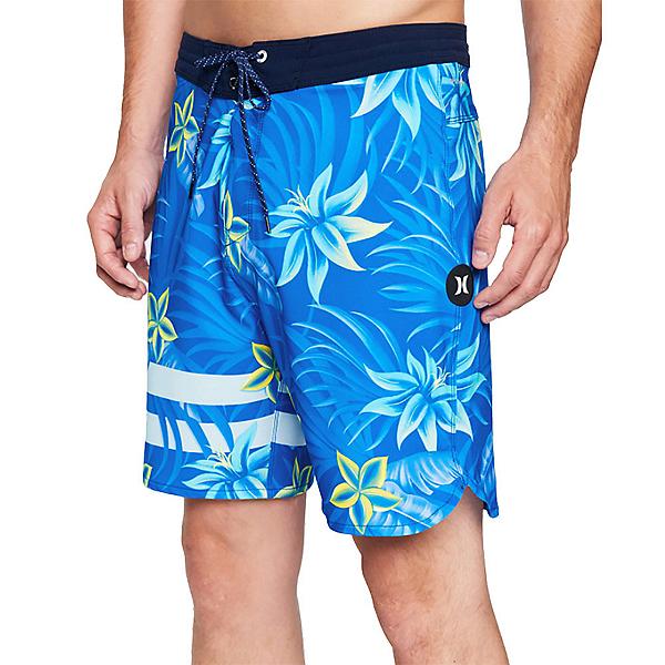 Hurley Phantom+ Block Party 2.0 Thalia Mens Board Shorts, Signal Blue, 600