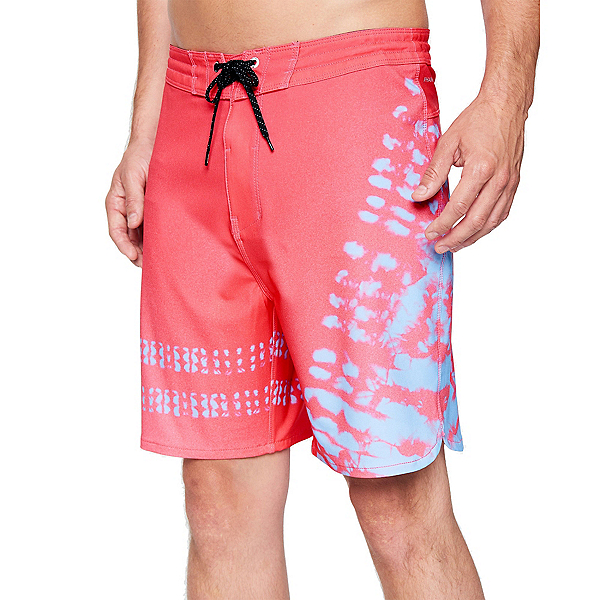 Hurley Phantom+ Block Party 2.0 Strands Mens Board Shorts, Light Fusion Red, 600