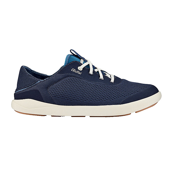 OluKai Moku Pae Mens Shoes, Trench Blue-Off White, 600