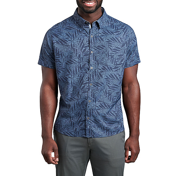 KUHL Outrage Short Sleeve Mens Shirt, Nocturnal Blue, 600