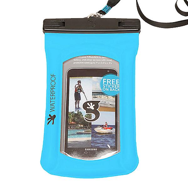 Geckobrands Float Phone Dry Bag, Neon Blue, 600