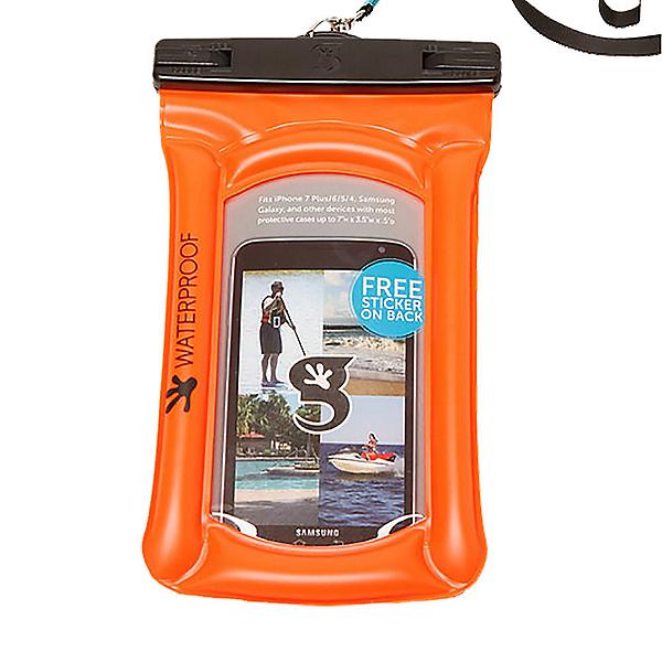 Geckobrands Float Phone Dry Bag, Neon Orange, 600