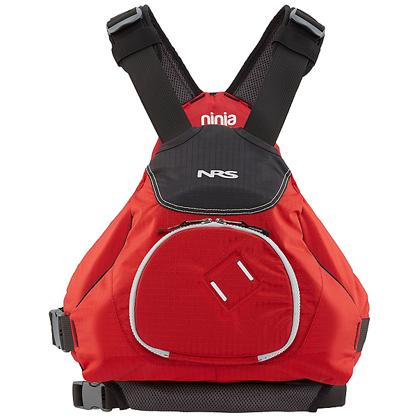 NRS Ninja Adult Kayak Life Jacket, Red, 600