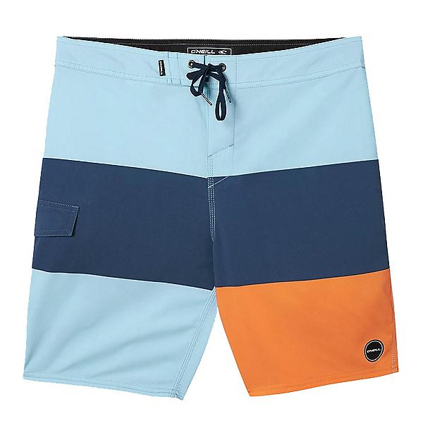 O'Neill Hyperfreak Blockade Mens Board Shorts, Light Blue, 600
