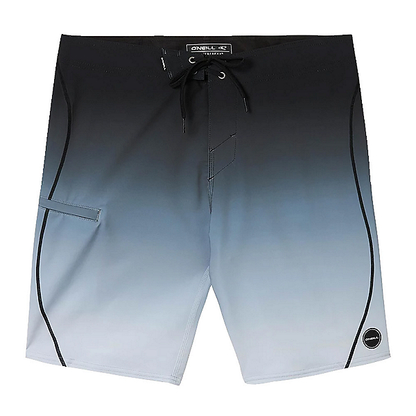 O'Neill Hyperfreak S-Seam Fade Mens Board Shorts, Grey, 600