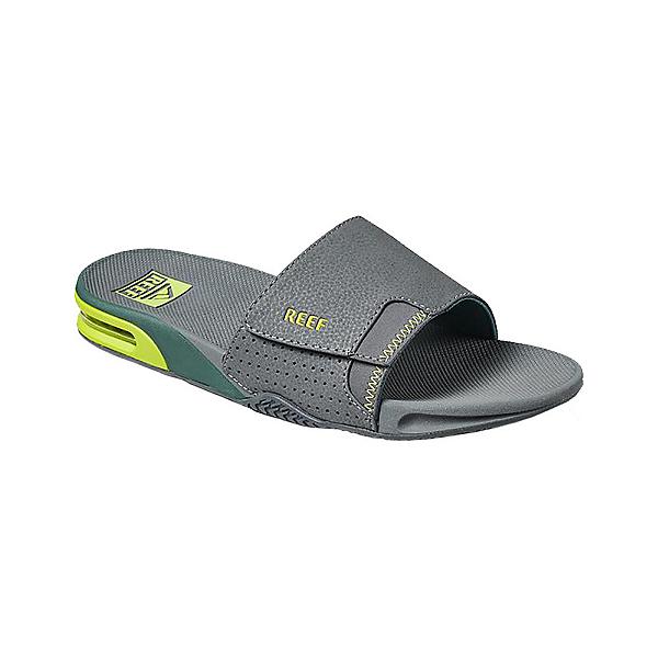 Reef Fanning Slide Mens Flip Flops, Grey Volt, 600