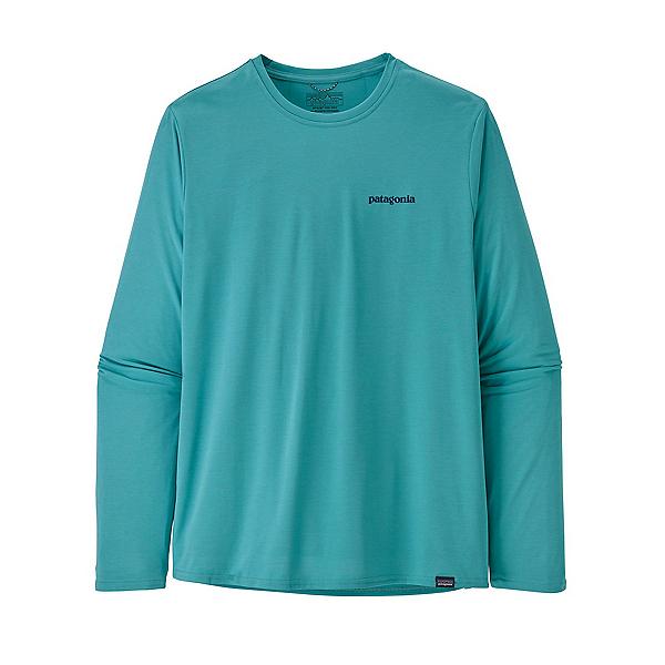 Patagonia Cap Cool Daily Graphic Long Sleeve Mens Shirt, Iggy Blue X Dye, 600