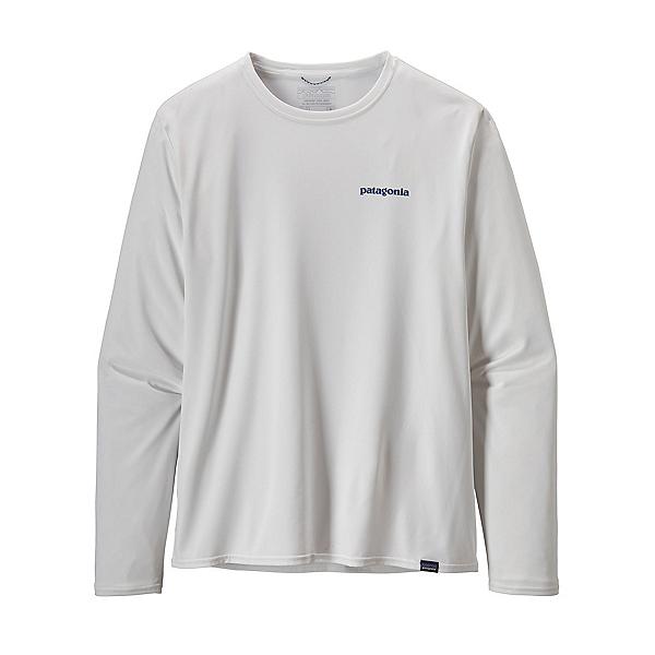 Patagonia Cap Cool Daily Graphic Long Sleeve Mens Shirt, White, 600