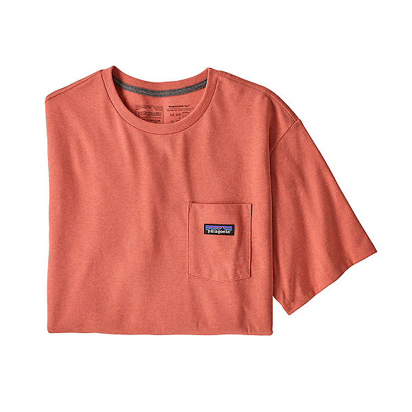 Patagonia P-6 Label Pocket Mens T-Shirt, Coho Coral, 600