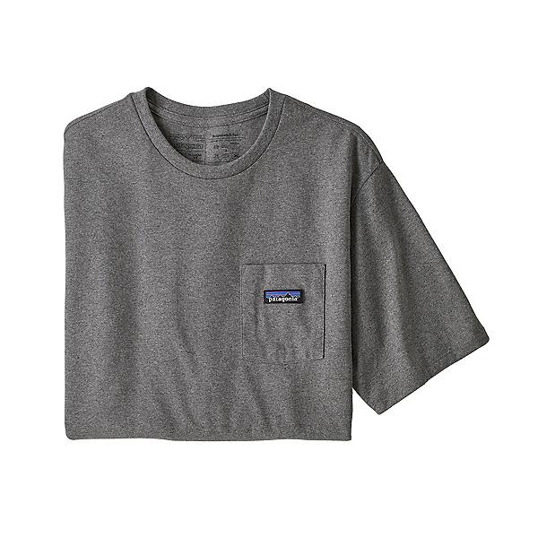 Patagonia P-6 Label Pocket Mens T-Shirt, Gravel Heather, 600