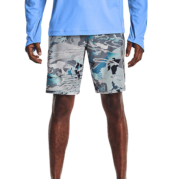 Under Armour Tide Chaser Mens Board Shorts, Hydro Camo-Pitch Gray, 600