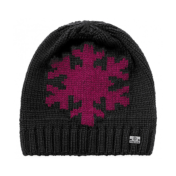 Bogner Fire + Ice Dafne Knitted Womens Hat, Grey-Pink, 600
