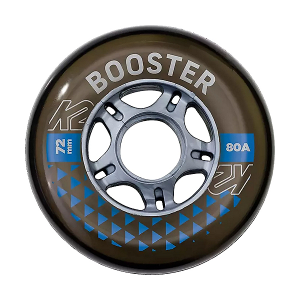 K2 Booster 72mm/80A- 8 Pack with ILQ 5 Bearings Inline Skate Wheels with Bearings, , 600