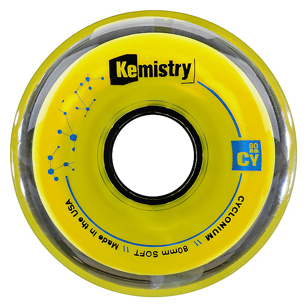 Tour Kemistry Cyclonium 80mm/78A Inline Hockey Skate Wheels, Yellow, 600