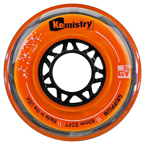 Tour Kemistry Grippium 76mm/78A Inline Hockey Skate Wheels, Orange, 600
