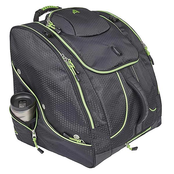 Athalon Ultimate Everything XL Ski Boot Bag with USB Port 2022, Lime-Black, 600