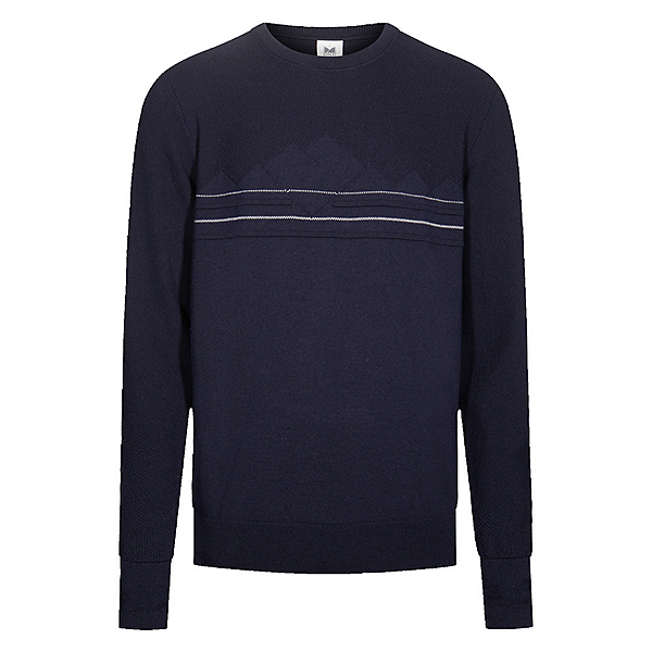 Dale Of Norway Syv Fjell Crew Neck Mens Sweater, Navy-Offwhite, 600