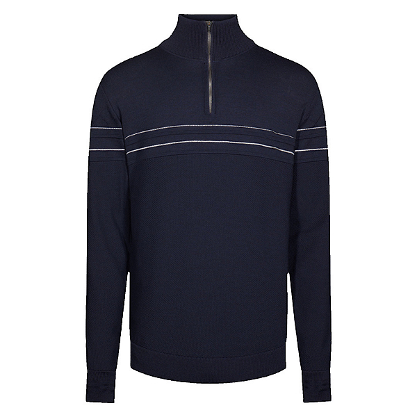 Dale Of Norway Syv Fjell 1/4 Zip Mens Sweater, Navy-Offwhite, 600