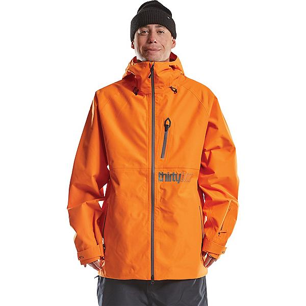 ThirtyTwo Grasser Mens Insulated Snowboard Jacket 2022, Orange, 600