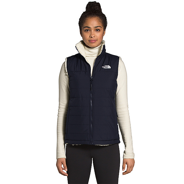 The North Face Mossbud Insulated Reversible Womens Vest 2022, Aviator Navy-Vintage White, 600