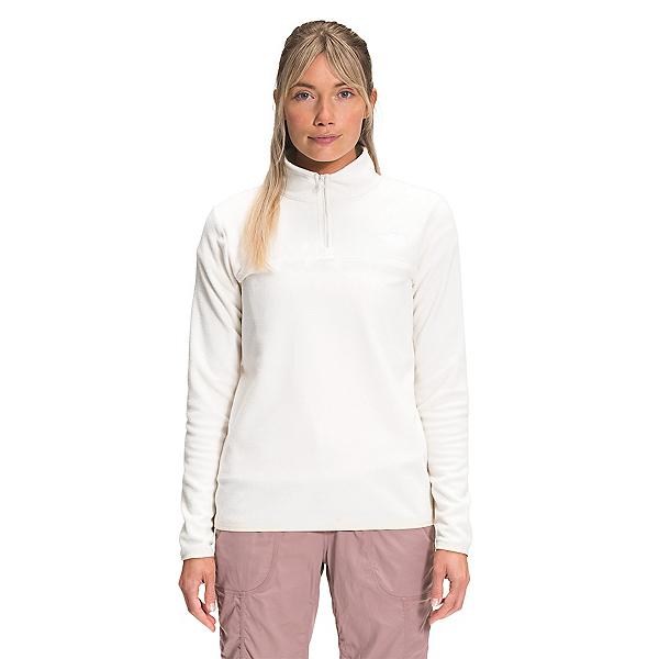 The North Face TKA Glacier 1/4 Zip Womens Mid Layer 2022, Gardenia White, 600