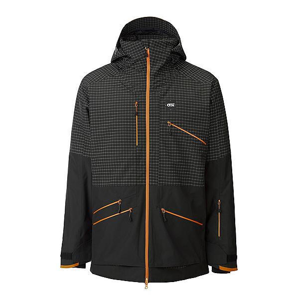 Picture Stone Mens Shell Ski Jacket 2022, Black Ripstop, 600