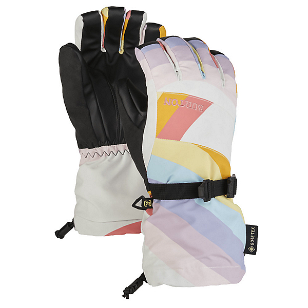 Burton Gore Tex Girls Gloves 2022, Stout White-Rainbow Mashup, 600