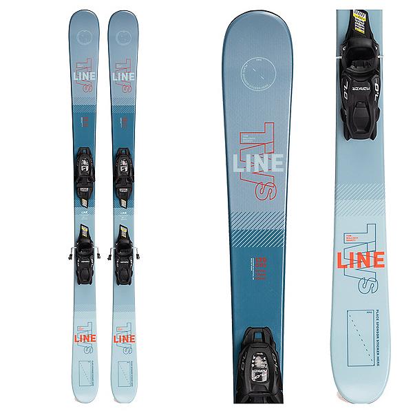 Line Wallisch Shorty Kids Skis with FDT 7.0 Bindings 2022, , 600