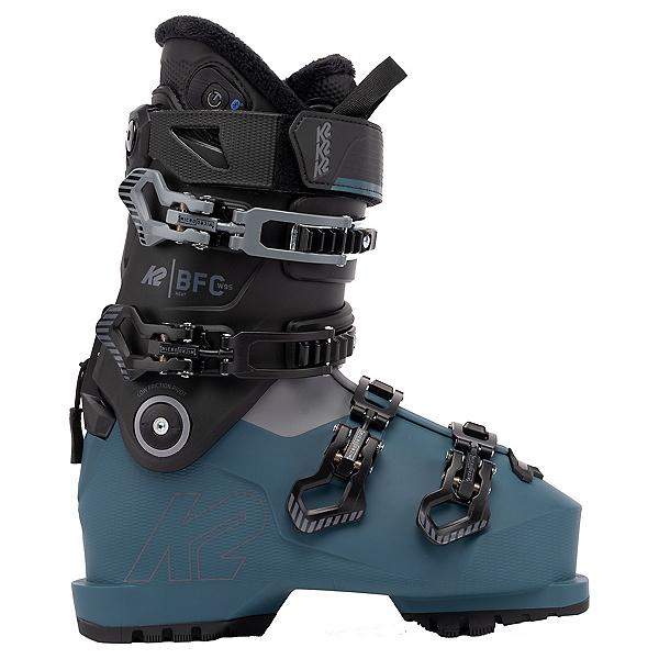 K2 BFC 95 Heat Womens Ski Boots 2022, Black-Blue, 600