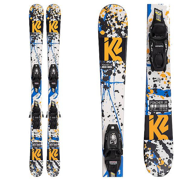 K2 Poacher Kids Skis with Marker 4.5 FDT Bindings 2022, , 600