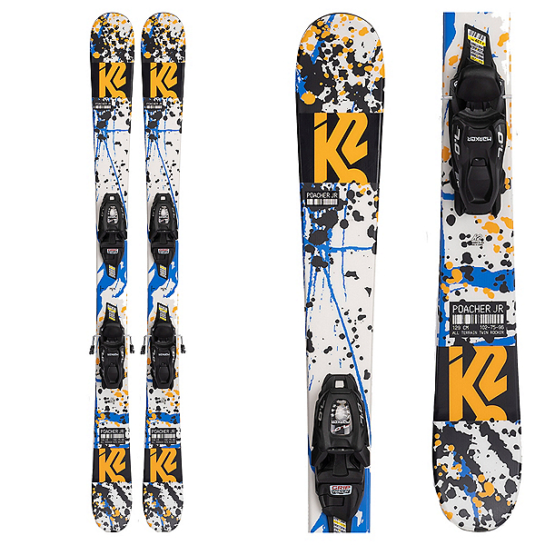 K2 Poacher Kids Skis with Marker 7.0 FDT Bindings 2022, , 600