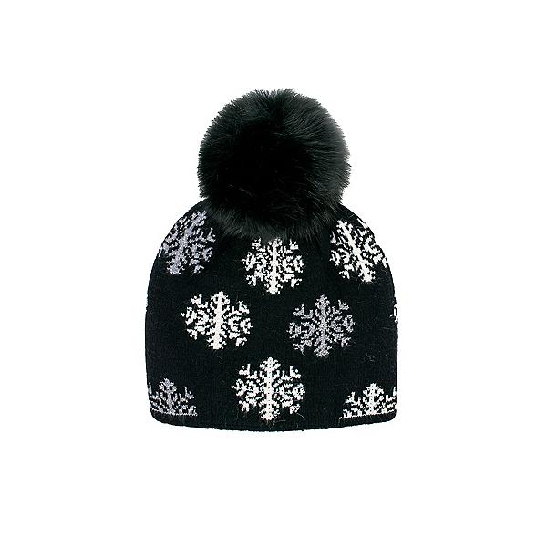Mitchies Matchings Snowflakes Hat Fox Fur Pom 2022, Black, 600