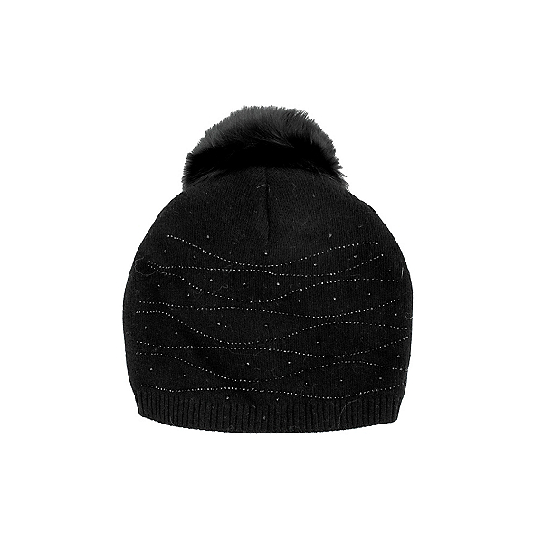 Mitchies Matchings Crystal Slouch Fur Pom Beanie 2022, Black, 600