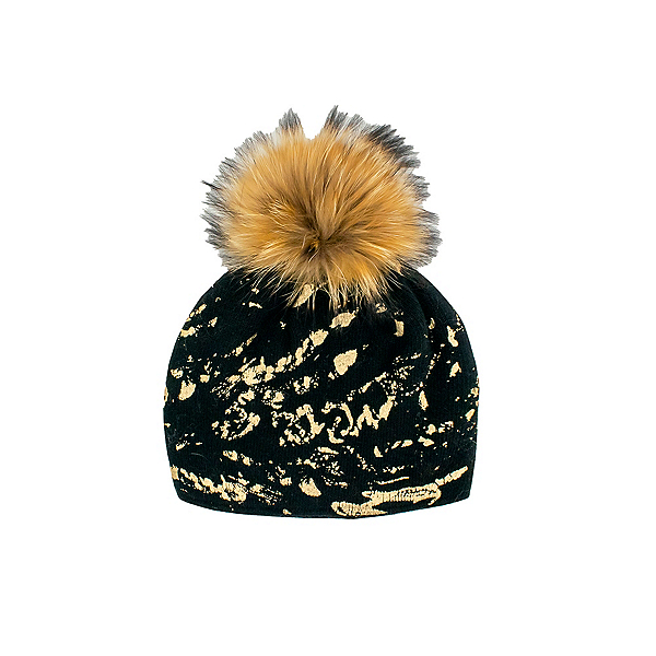Mitchies Matchings Foil Splash Raccoon Womens Hat 2022, Black-Brown, 600