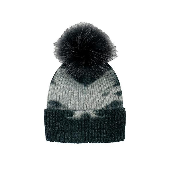 Mitchies Matchings The Dye Knit Fox Pom Womens Hat 2022, Black, 600