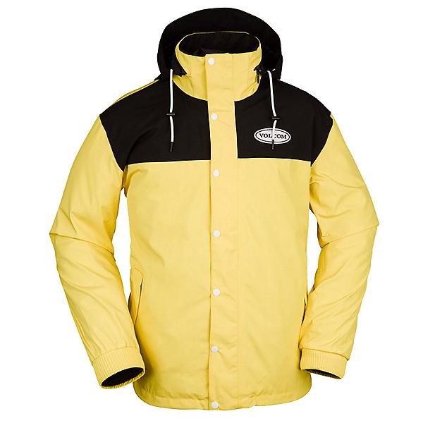 Volcom Longo Pullover Mens Insulated Snowboard Jacket 2022, Faded Lemon, 600