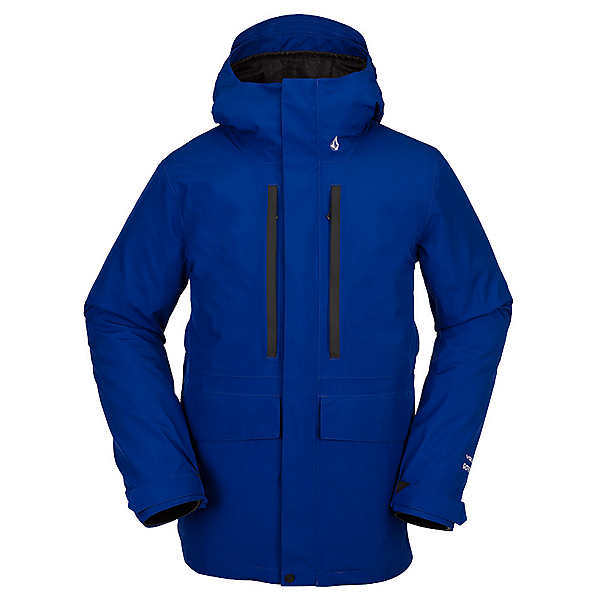 Volcom Ten Insulated GoreTex Mens Snowboard Jacket 2022, Bright Blue, 600