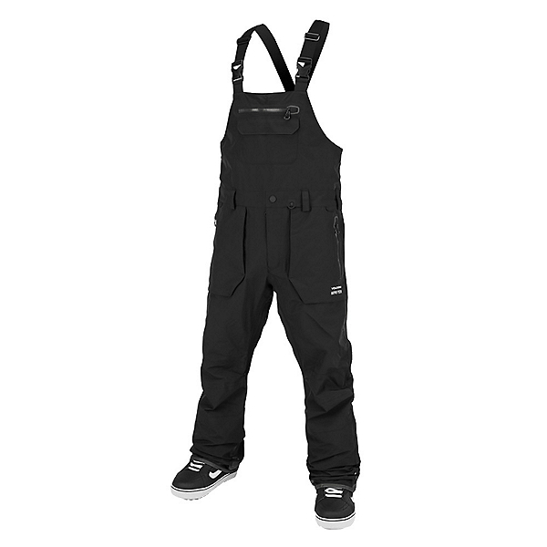 Volcom Rain GoreTex Bib Overall Mens Snowboard Pants 2022, Black, 600