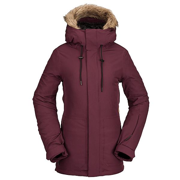 Volcom Shadow Womens Insulated Ski Jacket 2022, Merlot, 600