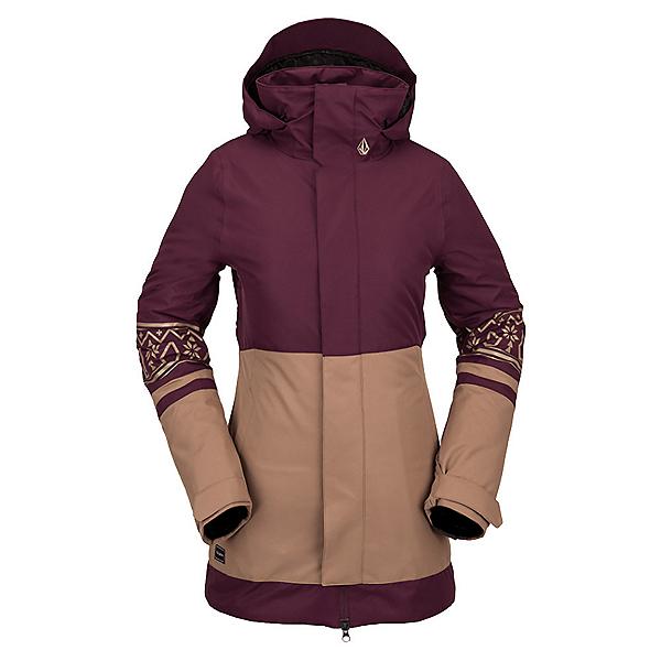 Volcom Westland Womens Insulated Snowboard Jacket 2022, Merlot, 600