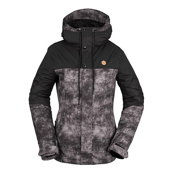 Volcom Bolt Womens Insulated Snowboard Jacket 2022, Acid Black, 600