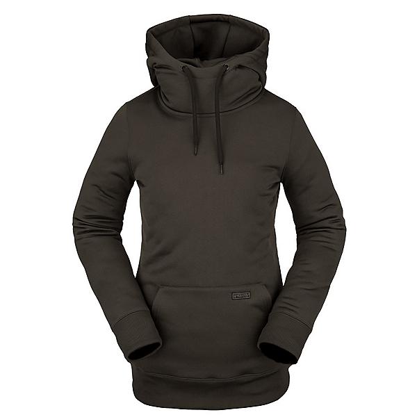Volcom Yerba Fleece Womens Hoodie 2022, Black Green, 600