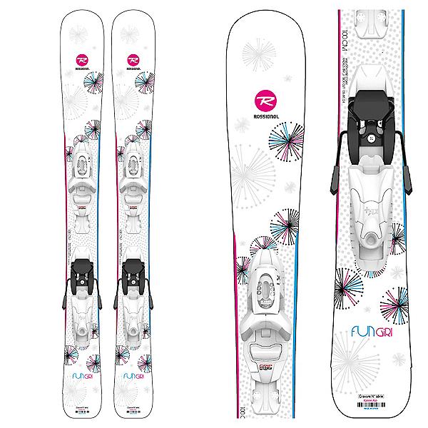 Rossignol Fun Girl Kids Skis with Kid 4 GW Bindings, , 600