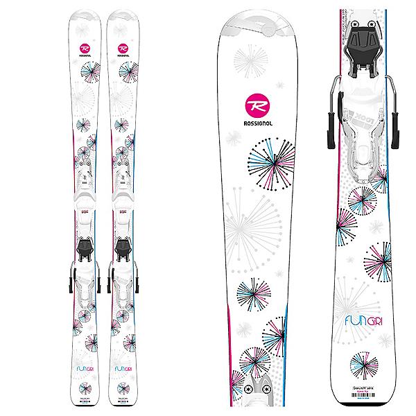 Rossignol Fun Girl L Kids Skis with Xpress 7 GW Bindings, , 600