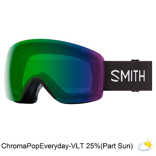 Smith Skyline Goggles 2022, Black-Chromapop Everyday Green, 600