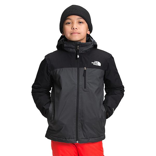 The North Face Snowquest Plus Insulated Boys Ski Jacket 2022, Asphalt Grey, 600