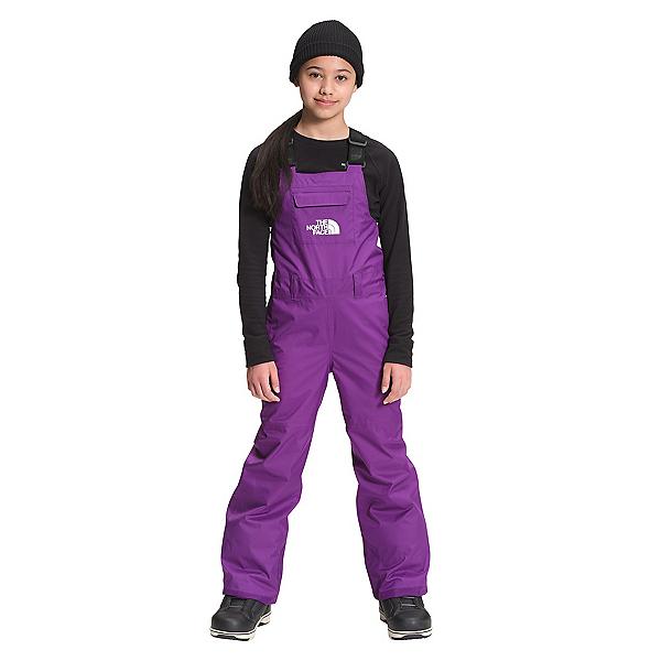The North Face Freedom Insulated Girls Ski Bibs 2022, Gravity Purple, 600
